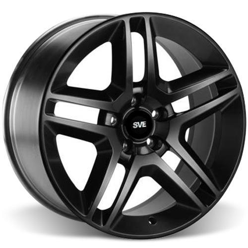 SVE Mustang GT500 Wheel & Tire Kit - 19x8.5 Gloss Black (05-14) Nitto NT555 - SVE Mustang GT500 Wheel & Tire Kit - 19x8.5 Gloss Black (05-14) Nitto NT555