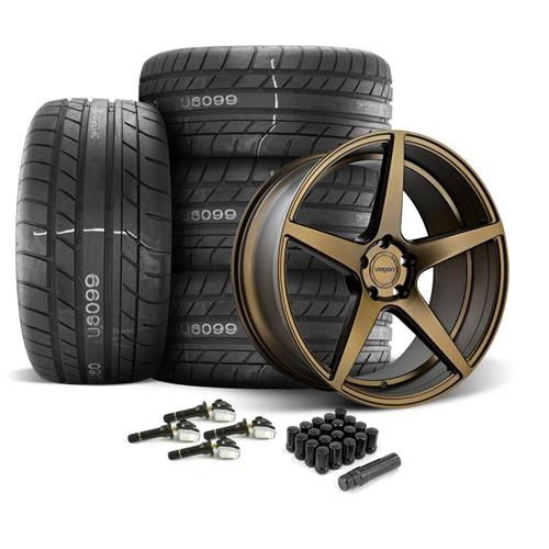 Velgen Mustang Classic5 Wheel & Tire Kit - 20x9/10.5  - Bronze - M/T Street Comp Tires (15-17)