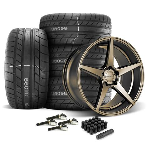 Velgen Mustang Classic5 Wheel & Tire Kit - 20x9/10.5  - Bronze - M/T Street Comp Tires (15-18)