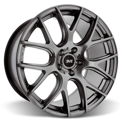 SVE Mustang Drift Wheel & Tire Kit - 19X9.5 Dark Stainless (15-16) Nitto Invo