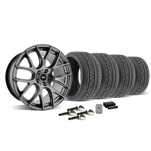 SVE Mustang Drift Wheel & Tire Kit - 19X9.5 Dark Stainless (2015) Nitto Invo