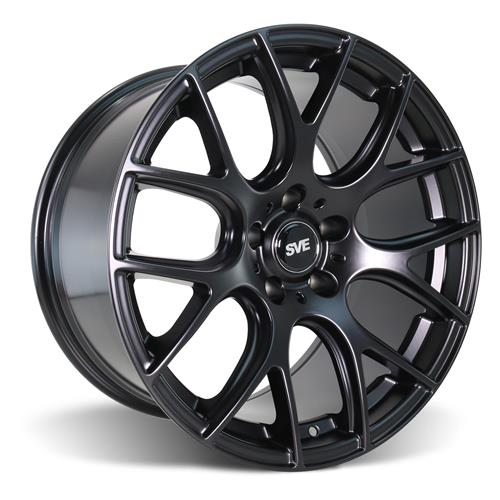 SVE Mustang Drift Wheel & Tire Kit - 19X9.5 Flat Black (15-17) Nitto Invo