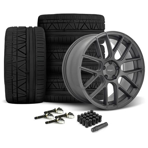 Velgen Mustang VMB7 Wheel & Tire Kit - 20x9/10.5 Matte Gun Metal (15-17) Nitto Invo