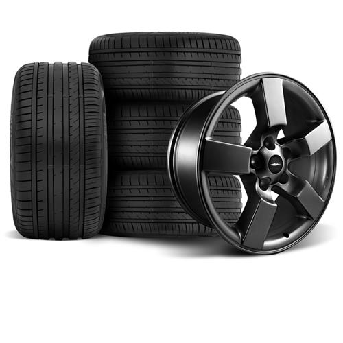 F-150 SVT Lightning Wheel & Tire Kit - 20x9 Matte Black (99-04) Falken Azenis