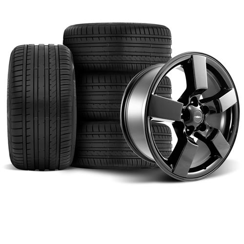 F-150 SVT Lightning Wheel & Tire Kit - 20x9 Gloss Black (99-04) Falken Azenis