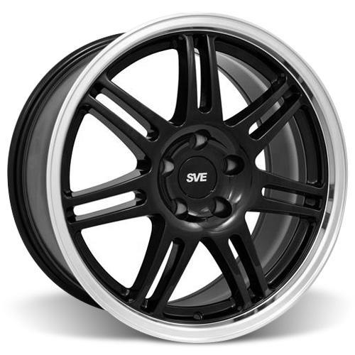 SVE Mustang Anniversary Wheel & Tire Kit - 17x9 Black (94-04) Sumitomo ZII
