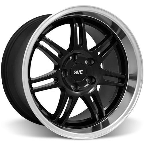 SVE Mustang Anniversary Staggered Wheel & Tire Kit Black - 17x9/10 (94-04) Nitto NT555