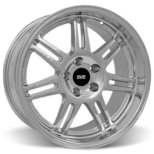 SVE Mustang Anniversary Staggered Wheel & Tire Kit Chrome - 17x9/10 (94-04) Nitto NT555 - SVE Mustang Anniversary Staggered Wheel & Tire Kit Chrome - 17x9/10 (94-04) Nitto NT555