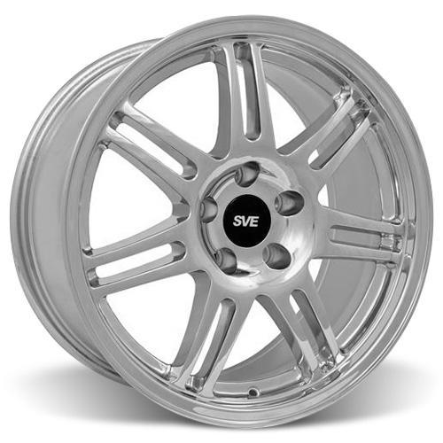 SVE Mustang Anniversary Staggered Wheel & Tire Kit Chrome - 17x9/10 (94-04) Sumitomo HTR Z