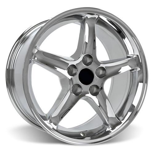 Mustang Cobra R Wheel & Tire Kit - 17x9 Chrome (94-04) Sumitomo HTR Z