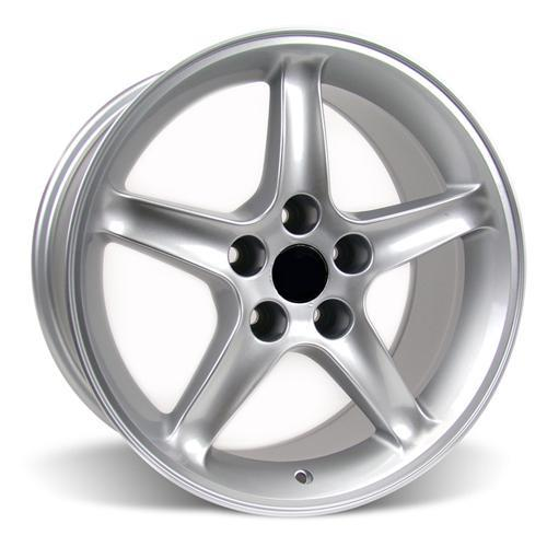 Mustang Cobra R Wheel & Tire Kit - 17x9 Silver (94-04) Nitto NT555