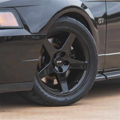 Mustang 03 Cobra Wheel & Tire Kit - 17x9 Black (94-04) Nitto G2