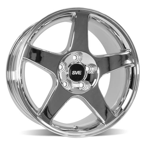 Mustang 03 Cobra Wheel & Tire Kit - 17x9 Chrome (94-04) Sumitomo ZII
