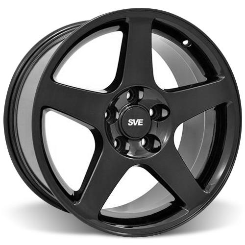 Mustang 03 Cobra Wheel & Tire Kit - 17x9/10.5 Black (94-04) Nitto NT555
