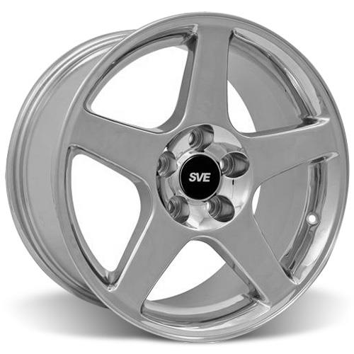 Mustang 03 Cobra Wheel & Tire Kit - 17x9/10.5 Chrome (94-04) Nitto NT555