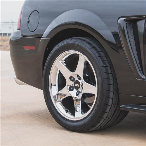 SVE Mustang 03 Cobra Wheel & Tire Kit - 17x9/10.5  - Chrome - M/T Tires (94-04)
