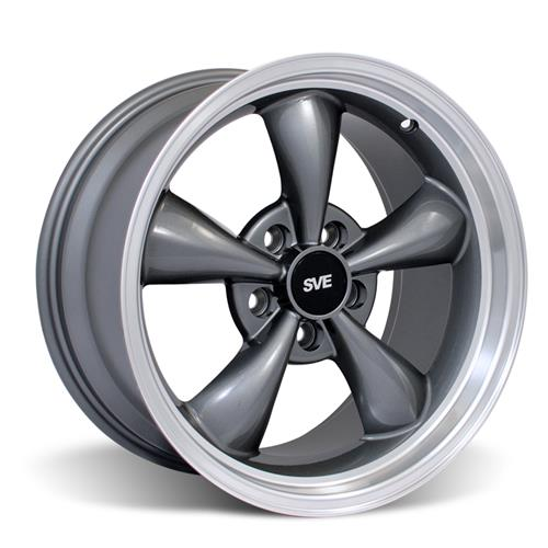 Staggered Bullitt Wheel & Tire Kit Mustang Anthracite 17x9/10.5 (94-04) Nitto NT555