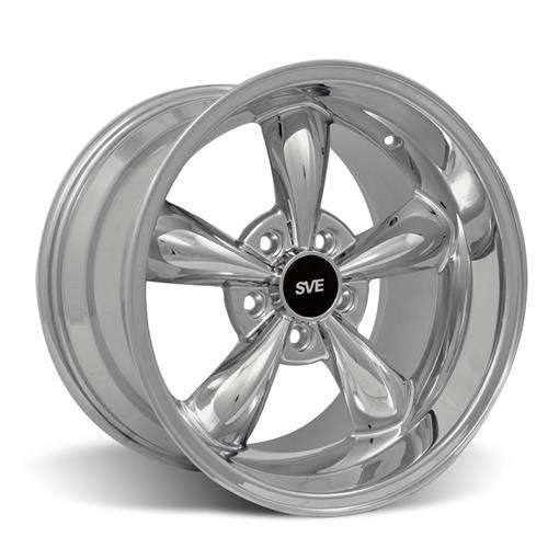 Mustang Bullitt Wheel & Drag Radial Tire Kit  - 17x9/10.5 - Chrome - NT555R (94-04)