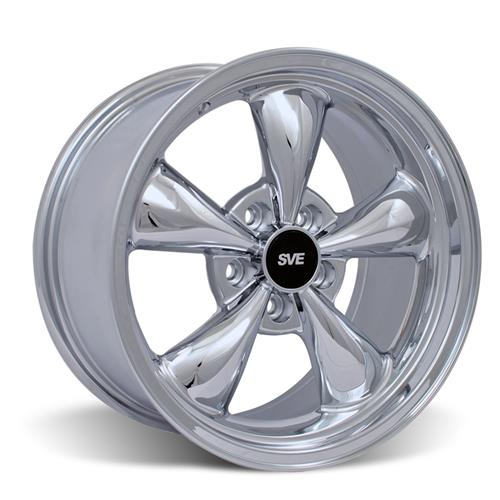 Mustang Staggered Bullitt Wheel & Tire Kit Chrome 17x9/10.5 (94-04) Sumitomo HTR Z