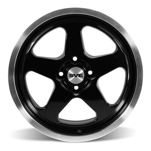 Mustang SC Staggered Wheel & Tire Kit - 17x8/9 Black (79-93) Nitto G2