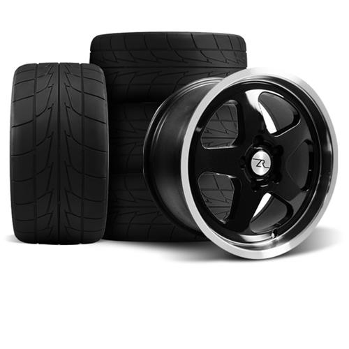 Mustang Saleen SC Wheel & Drag Radial Tire Kit  - 17x9/10 - Black - NT555R (94-04) - Mustang Saleen SC Wheel & Drag Radial Tire Kit  - 17x9/10 - Black - NT555R (94-04)