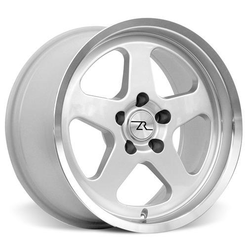 Mustang SC Staggered Wheel & Tire Kit - 17x9/10 Silver (94-04) Nitto NT555 - Mustang SC Staggered Wheel & Tire Kit - 17x9/10 Silver (94-04) Nitto NT555
