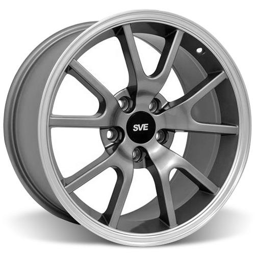 Mustang FR500 Wheel & Tire Kit - 17x9 Anthracite (94-04) Nitto NT555