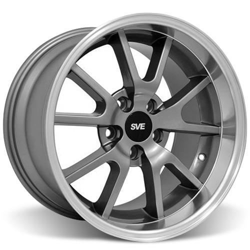 Mustang Staggered FR500 Wheel & Tire Kit - 17x9/10.5 Anthracite (94-04) Nitto NT555