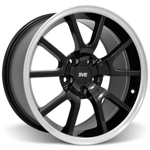 Mustang Staggered FR500 Wheel & Tire Kit - 17x9/10.5 Black (94-04) Nitto NT555