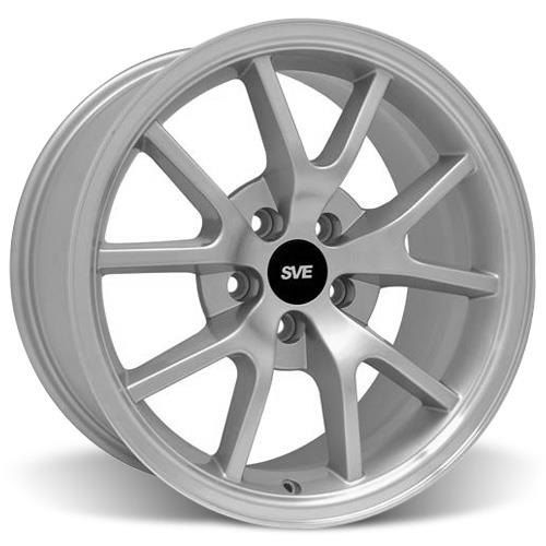 Mustang Staggered FR500 Wheel & Tire Kit - 17x9/10.5 Silver (94-04) Sumitomo HTR Z