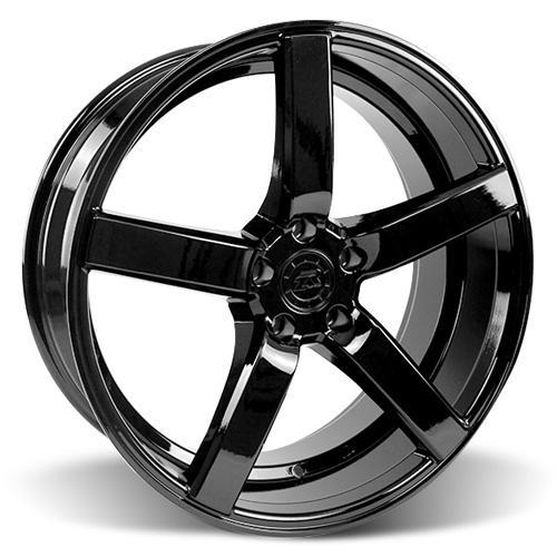 Mustang DF5 Wheel & Tire Kit - 20x8.5 Piano Black (05-14) Nitto NT555
