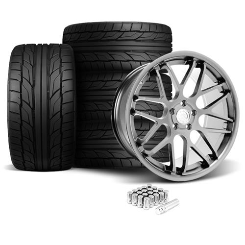 Mustang Downforce Wheel & Tire Kit - 20x8.5/10  Platinum (05-14) Nitto NT555 G2