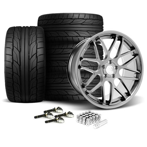 Mustang Downforce Wheel & Tire Kit - 20x8.5/10  Platinum (15-17) Nitto NT555 G2