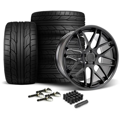 Mustang Downforce Wheel & Tire Kit - 20x8.5/10  Matte Black (15-17) Nitto NT555 G2