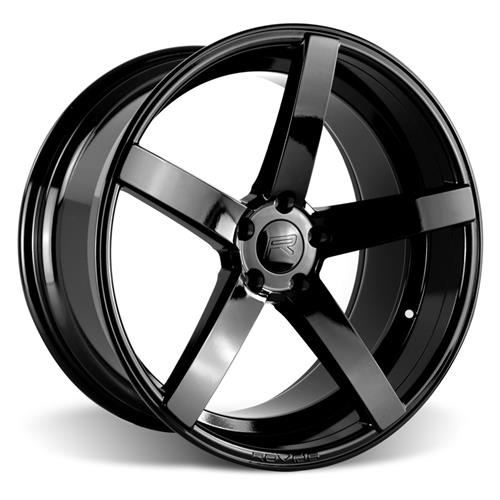 Rovos Mustang Durban Wheel & Tire Kit - 18x9/10.5 Gloss Black (94-04) Nitto NT05