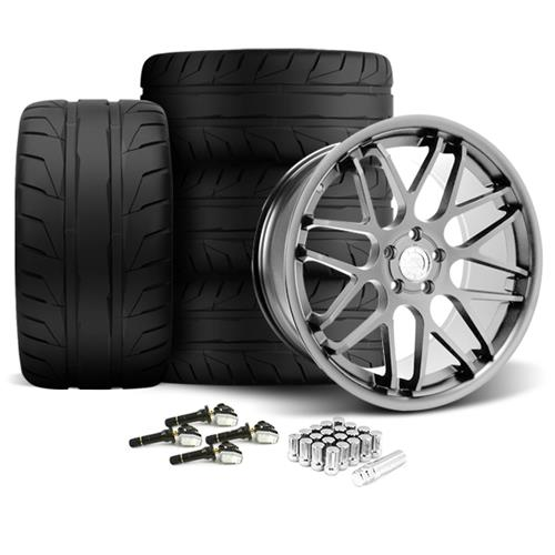 Mustang Downforce Wheel & Tire Kit - 20x8.5/10  - Platinum (15-17) Nitto NT05
