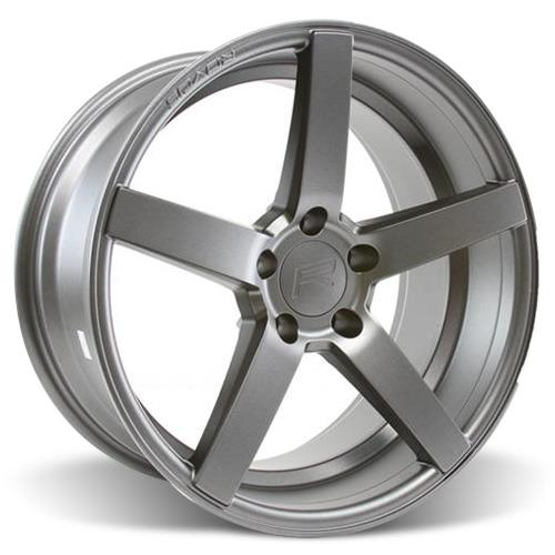 Rovos Mustang Durban Wheel & Tire Kit - 18x9 Satin Gunmetal (94-04) Nitto NT555