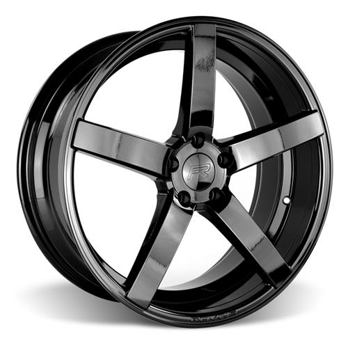 Rovos Mustang Durban Wheel & Tire Kit - 18x9/10.5 Gloss Black (94-04) Nitto NT555 - Rovos Mustang Durban Wheel & Tire Kit - 18x9/10.5 Gloss Black (94-04) Nitto NT555