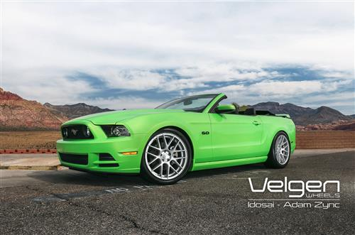 Velgen Mustang VMB7 Wheel & Tire Kit - 20x9/10.5 Silver (05-14) Nitto NT555