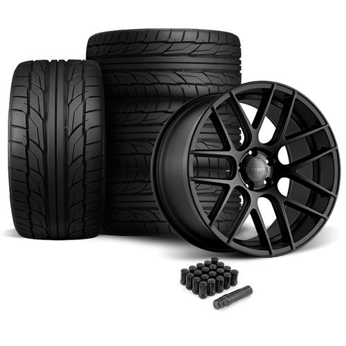 Velgen Mustang VMB7 Wheel & Tire Kit - 20x9/10.5  - Satin Black - NT555 G2 Tires (05-14)