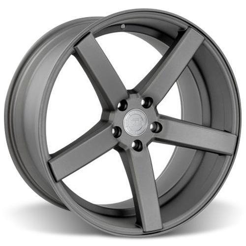 Mustang DF5 Wheel & Tire Kit - 20x8.5/10 Matte Gunmetal (05-14) Ohtsu