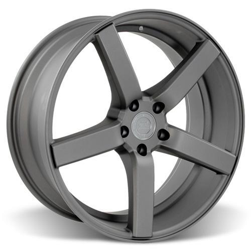 Mustang DF5 Wheel & Tire Kit - 20x8.5 Matte Gunmetal (05-14) Ohtsu