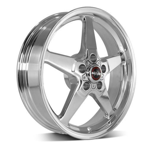 Race Star Mustang Drag Star Wheel & Tire Kit - 18x5/17x9.5  - Polished - M/T Tires (15-17)