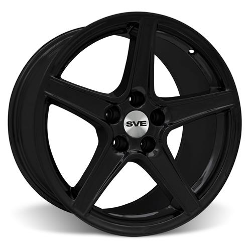 Mustang Staggered Saleen Wheel & Tire Kit - 18x9/10 Black (94-04) Nitto NT555 - Mustang Staggered Saleen Wheel & Tire Kit - 18x9/10 Black (94-04) Nitto NT555
