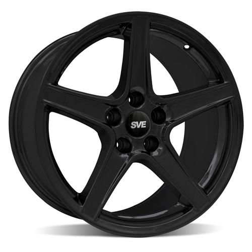 Mustang Staggered Saleen Wheel & Tire Kit - 18x9/10 Black (94-04) Sumitomo ZII