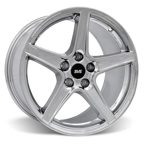 Mustang Saleen Wheel & Tire Kit - 18x9/10 Chrome (94-04) Nitto NT555