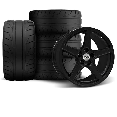 Mustang Saleen Wheel & Tire Kit - 18x9 Black (94-04) Nitto NT05 - Mustang Saleen Wheel & Tire Kit - 18x9 Black (94-04) Nitto NT05