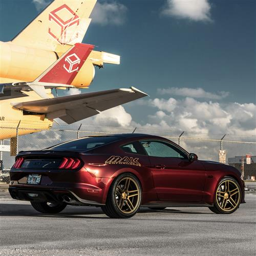 Velgen Mustang Split5 Wheel & Tire Kit - 20x9/10.5  - Satin Bronze - MT Street Comp (15-18)