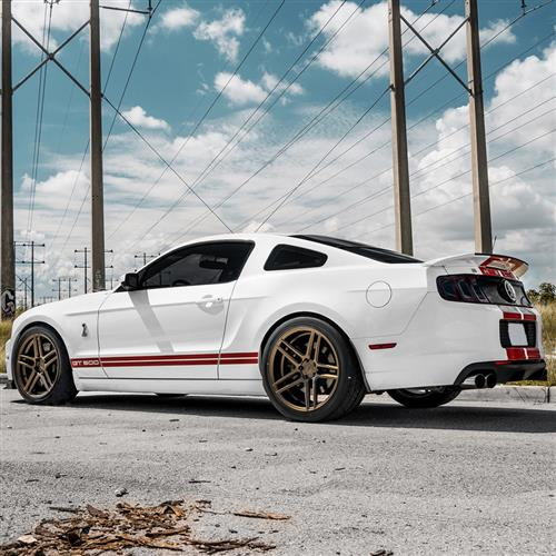 Velgen Mustang Split5 Wheel & Tire Kit - 20x9/10.5  - Satin Bronze - NT555 G2 (05-14)