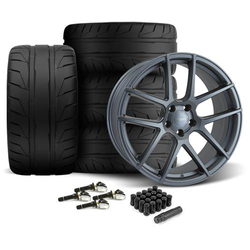 Velgen Mustang VMB5 Wheel & Nitto NT05 Tire Kit Gunmetal (15-16)